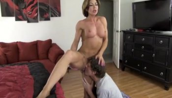 Passionate blonde Lexi Belle rides her man wildly
