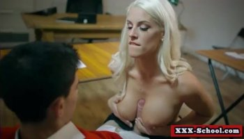 Raven Bay in ripped pants gets slammed in the kitchen
