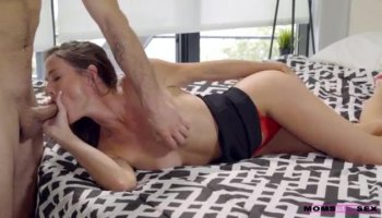 Chick pleases with irrumation and titty fuck